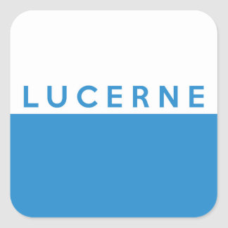 lucerne province Switzerland swiss flag text name Square Sticker