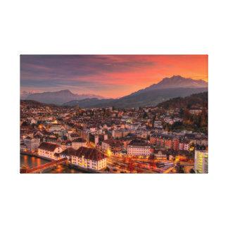 Lucerne Switzerland HDR Fine Art Canvas Print
