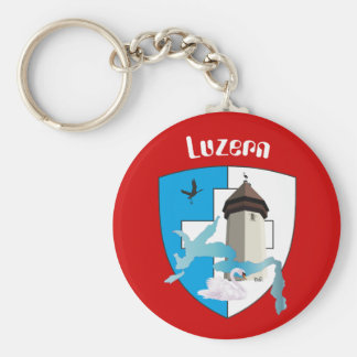 Lucerne Switzerland key supporter Key Ring