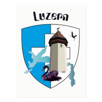 Lucerne Switzerland postcard