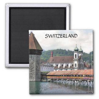 LUCERNE, SWITZERLAND SQUARE MAGNET