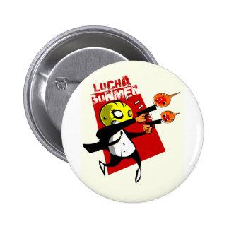 Lucha Gunmen 6 Cm Round Badge