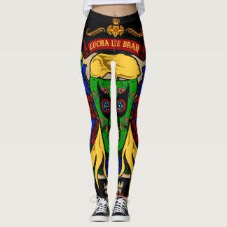 "Lucha Lee Brah "" Pride and Pain"" Dem Legz Leggings"