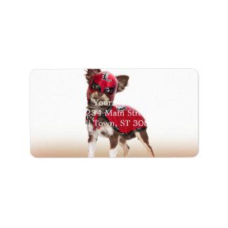 Lucha libre dog ,funny chihuahua,chihuahua label