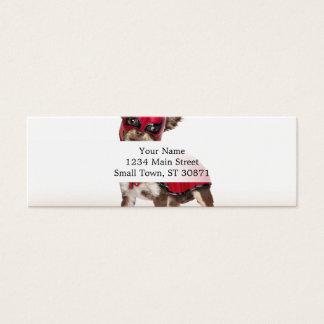 Lucha libre dog ,funny chihuahua,chihuahua mini business card