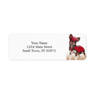 Lucha libre dog ,funny chihuahua,chihuahua return address label