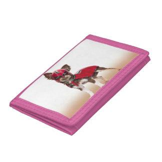 Lucha libre dog ,funny chihuahua,chihuahua tri-fold wallet