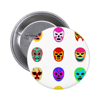 Lucha Libre Mask Mexican Wrestling 6 Cm Round Badge