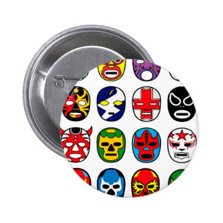 Lucha Libre Mask wrestler Mexican Wrestling 6 Cm Round Badge