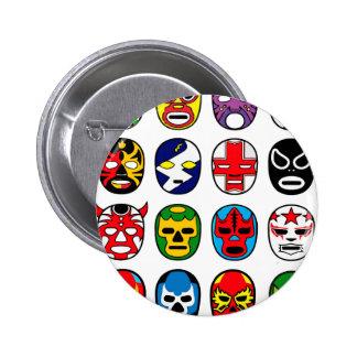 Lucha Libre Mask wrestler Mexican Wrestling 6 Cm Round Badge