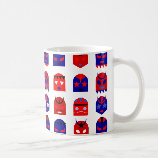 lucha libre masks coffee mug