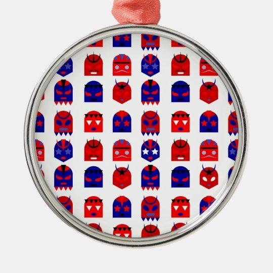 lucha libre masks metal ornament