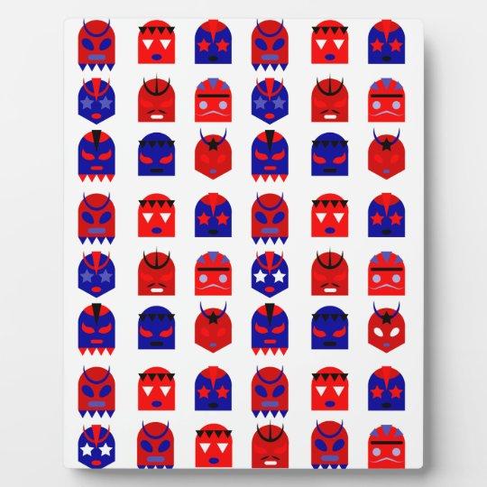 lucha libre masks plaque