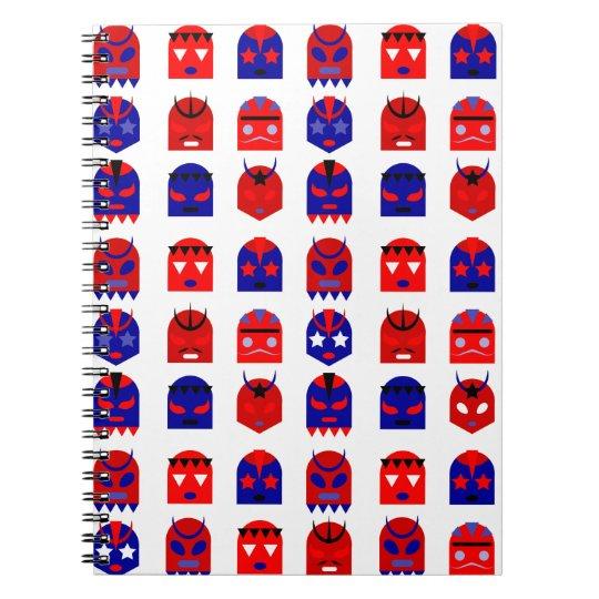 lucha libre masks spiral notebook