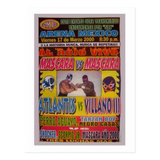 Lucha Libre Match Poster Postcard