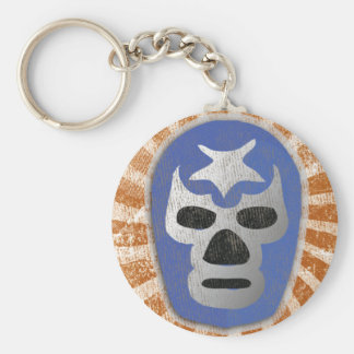 Lucha Libre Mexican Wrestling Basic Round Button Key Ring