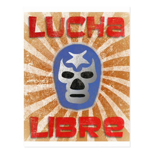 Lucha Libre Mexican Wrestling Post Card
