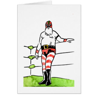 Lucha Santa Card