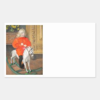 Lucia Day Rockinghorse Rectangular Sticker