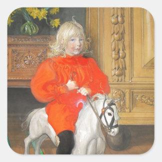 Lucia Day Rockinghorse Square Sticker