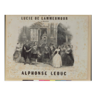 Lucia de Lammermoor' by Gaetano Donizetti Postcard