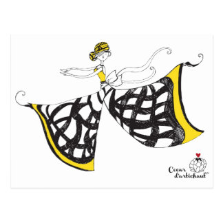 Lucia - Lady Butterfly Postcard
