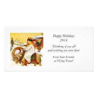 Lucia Rides the Jul Goat Customised Photo Card