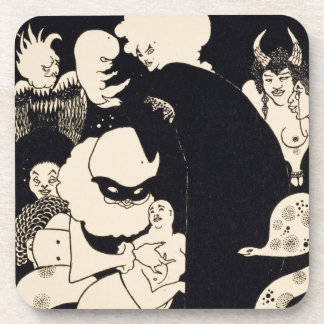 Lucian's Strange Creatures, illustration from 'Luc Beverage Coaster