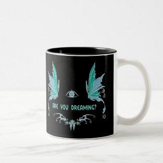 Lucid dreaming coffee mug. Two-Tone coffee mug