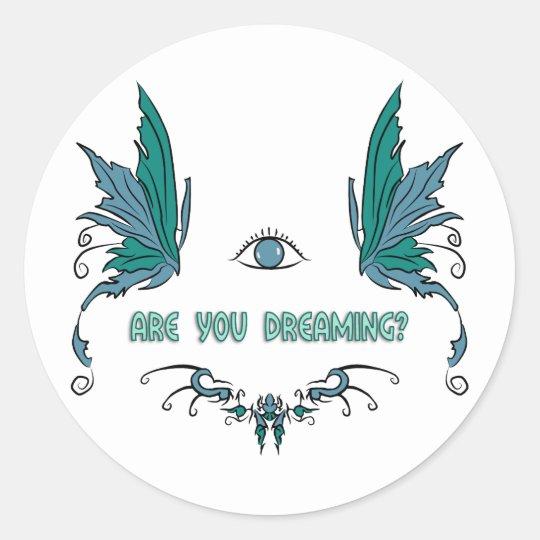 Lucid dreaming sticker reminder design.