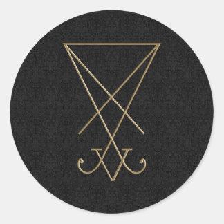 Lucifer Alchemy Sigil Gothic Art Round Sticker
