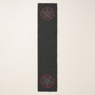 Lucifer Stars Gothic Occult Scarf