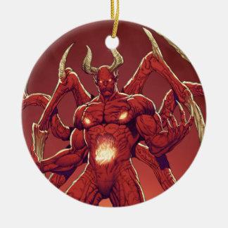 Lucifer the Devil, the Prince of Darkness, Satan Round Ceramic Decoration