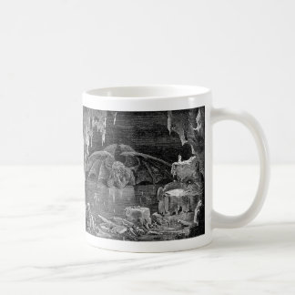 Lucifer Vintage Woodcut Engraving Goth Art Coffee Mug