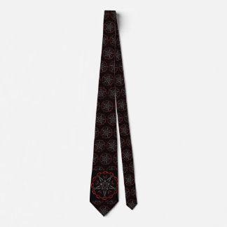 Lucifers Star Gothic Fractal Art Tie