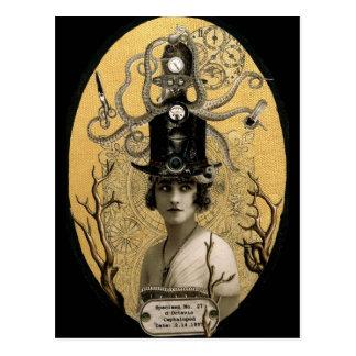 Lucinda Octavio Steampunk Postcard