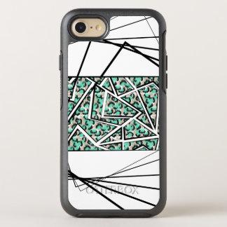 Lucite Green Leopard Print Geometric Pattern OtterBox Symmetry iPhone 8/7 Case
