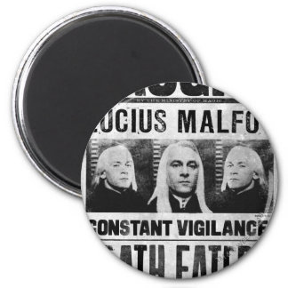 Lucius Malfoy Wanted Poster 6 Cm Round Magnet