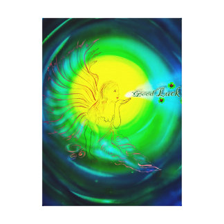 Luck angel - Lucky fishing rod Canvas Print