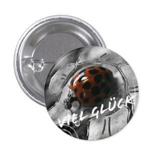 Luck beetle 3 cm round badge