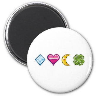 luck charms 1 6 cm round magnet