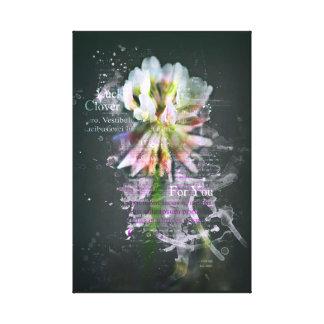 """Luck clover, """"Lucky Clover"""". Flower. Art Canvas Print"""