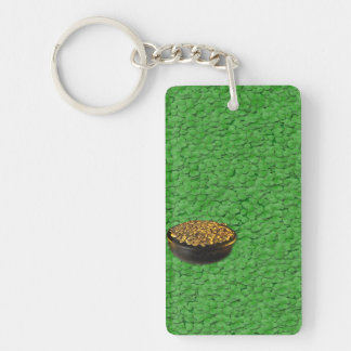 luck Double-Sided rectangular acrylic key ring