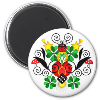 Luck Gifts 6 Cm Round Magnet