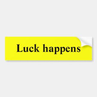 Luck happens car bumper sticker