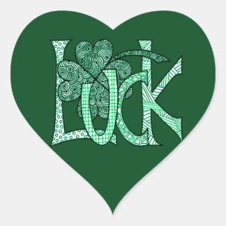 Luck Heart Sticker