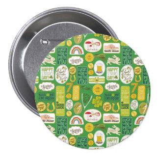 Luck Lucky Irish 7.5 Cm Round Badge