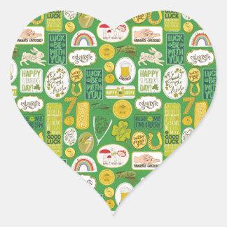 Luck Lucky Irish Heart Sticker