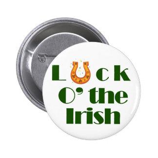 Luck o the irish 6 cm round badge