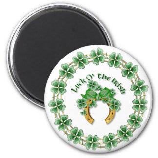Luck O' The Irish 6 Cm Round Magnet
